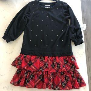 NWT Blush Black and Red Plaid Dress